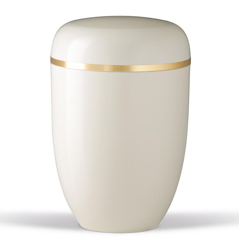 hvid urne til bisættelse