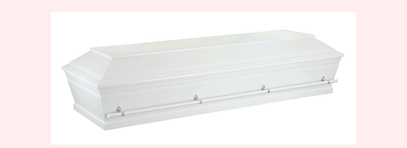 hvid kiste begravelse jyllinge