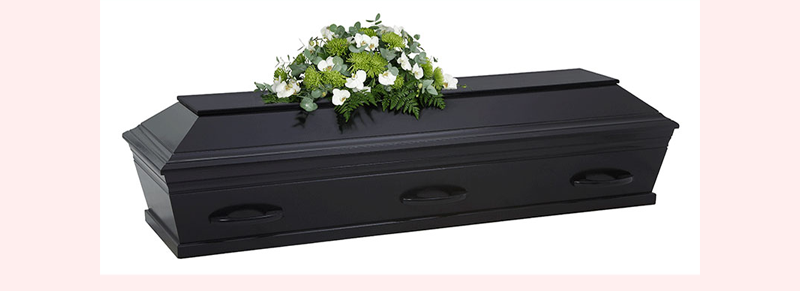 sort kiste til begravelse